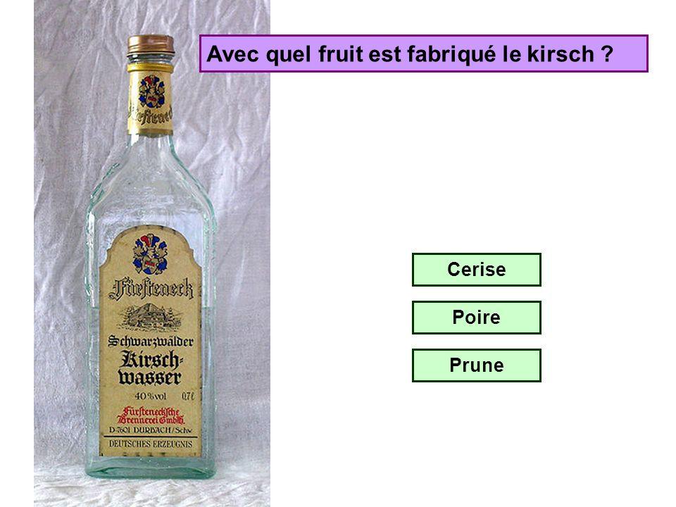 Avec quel fruit est fabriqué le cidre ? Pomme Prune Raisin