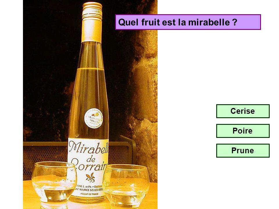 Avec quel fruit est fabriqué le kirsch ? Cerise Poire Prune