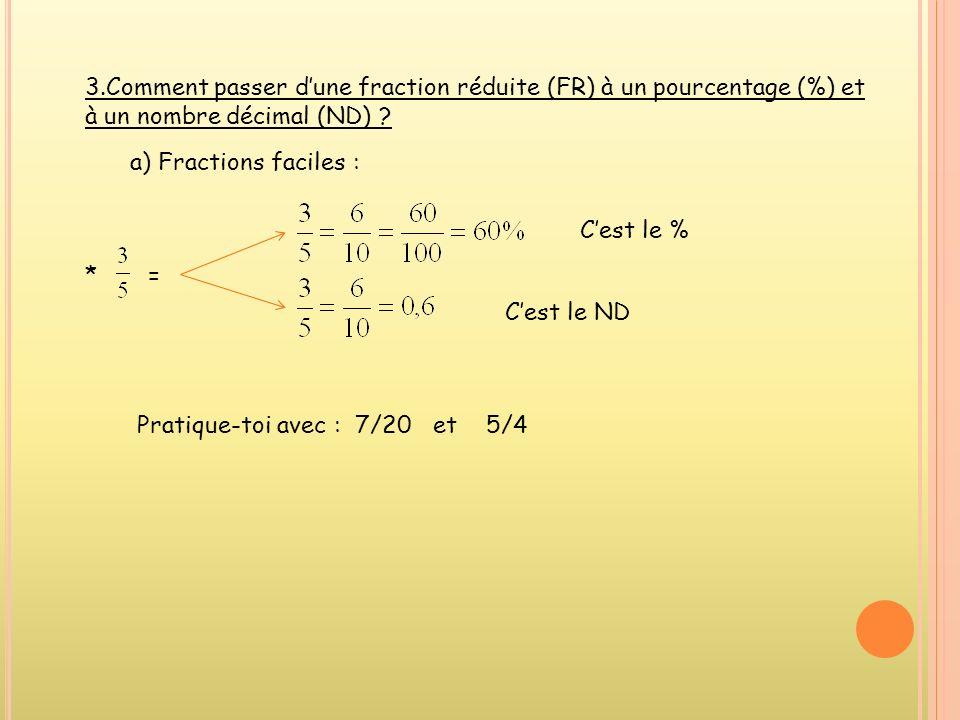 * 0,025 = Cest le % Cest la FR Pratique-toi avec : 0,45, 1,75, 0,0005