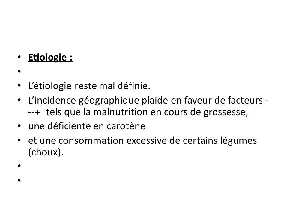 Etiologie : Létiologie reste mal définie.