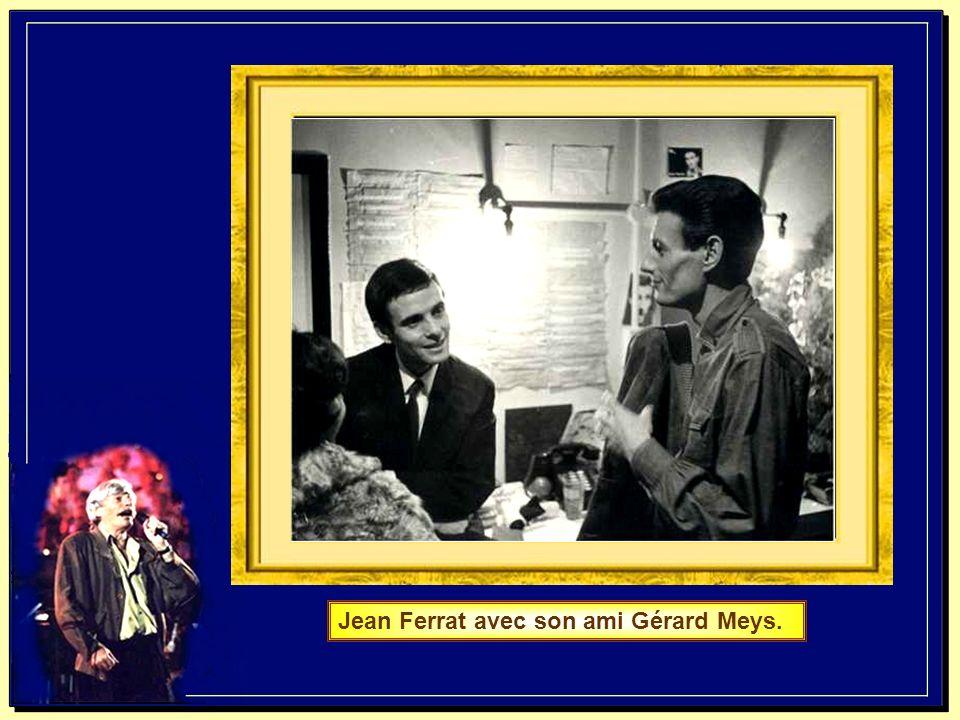 Jean Ferrat avec son ami Gérard Meys.