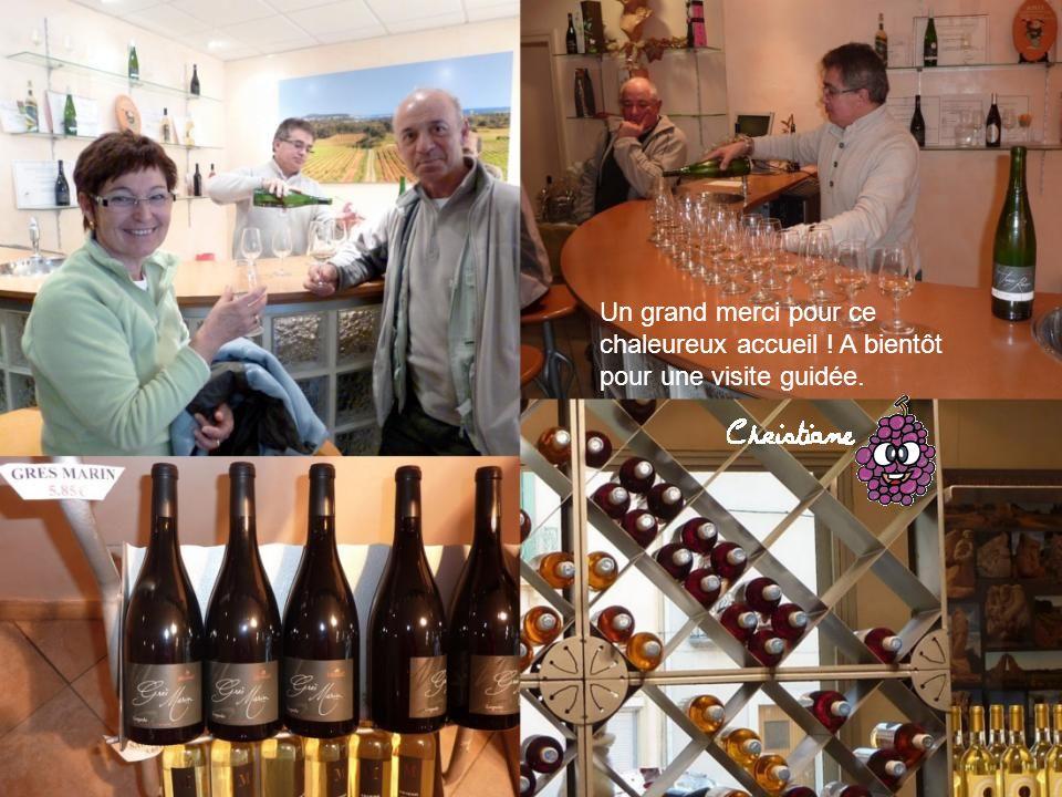 Nous avons été très bien accueillis par la cave de Montagnac. Son directeur nous a fait un bref et passionnant exposé sur la viticulture.