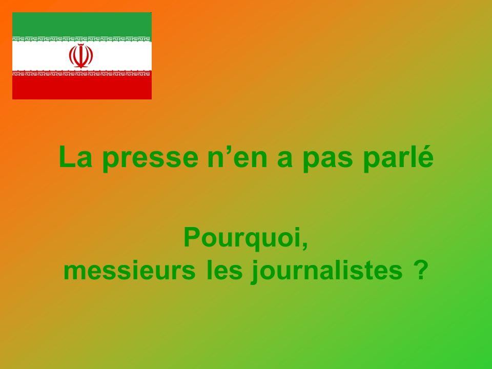 Ne pas cliquer RÉVOLTANT Cela se passe en Iran