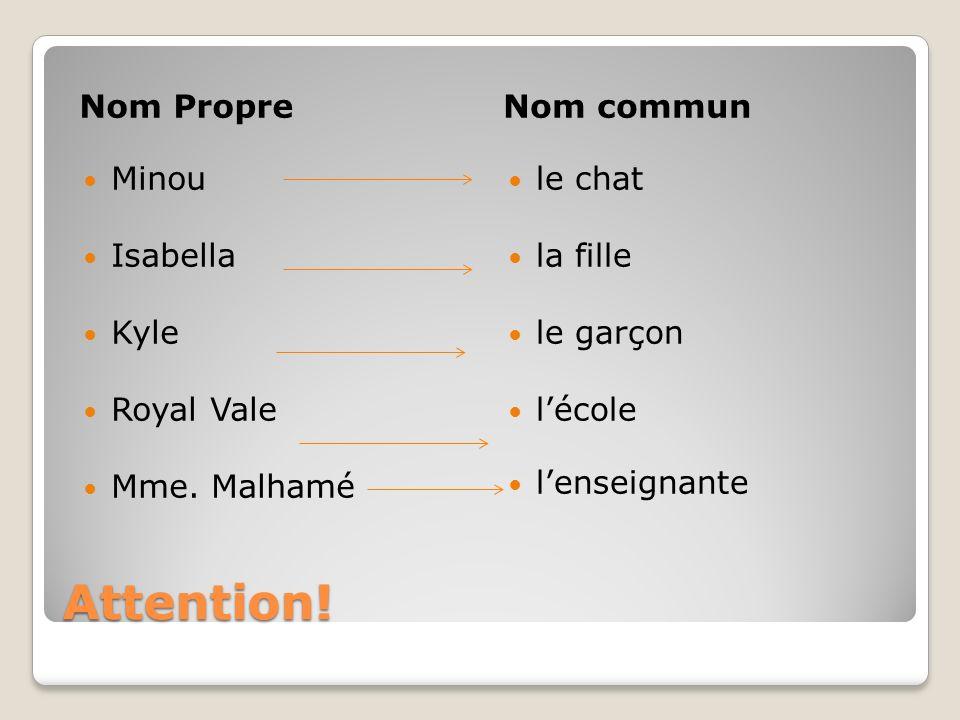Nom PropreNom commun Les noms propres de peuples prennent une majuscule tout comme le nom du pays Les Canadiens vivent au Canada.