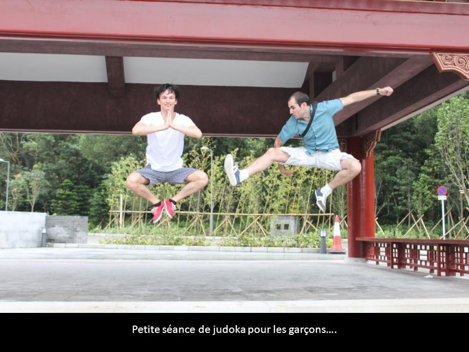 Petite séance de judoka pour les garçons….
