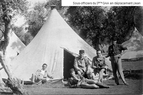 Sous-officiers du 3 ème GAA en déplacement (Jean Veran)