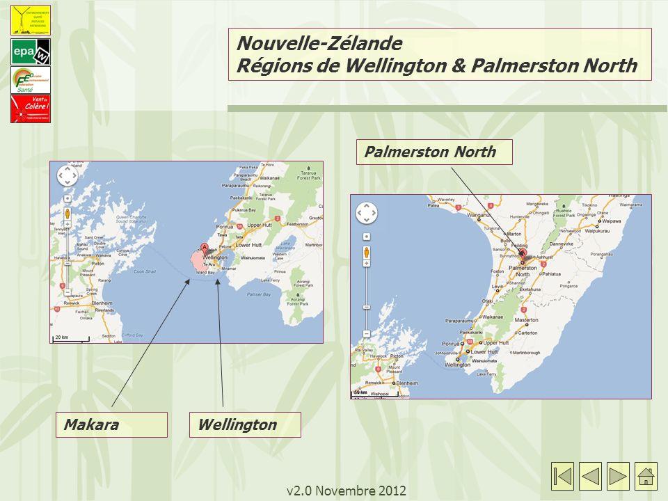 v2.0 Novembre 2012 Palmerston North Makara Nouvelle-Zélande Régions de Wellington & Palmerston North Wellington