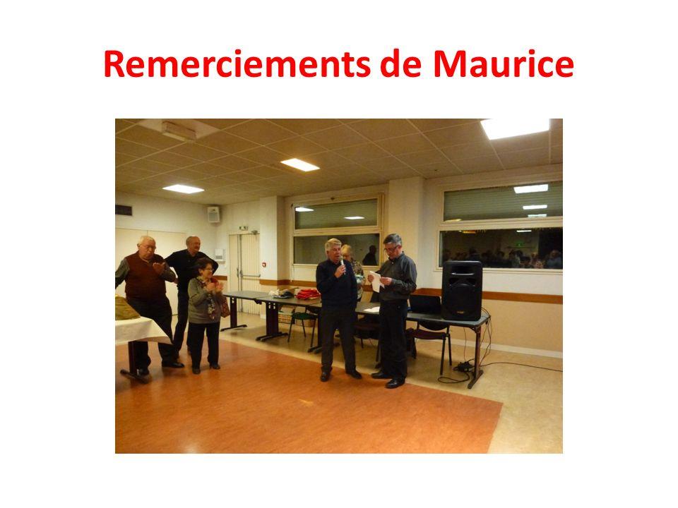 Remerciements de Maurice