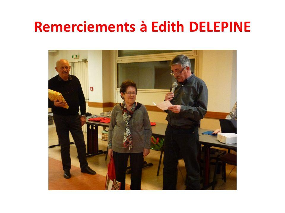 Remerciements à Edith DELEPINE
