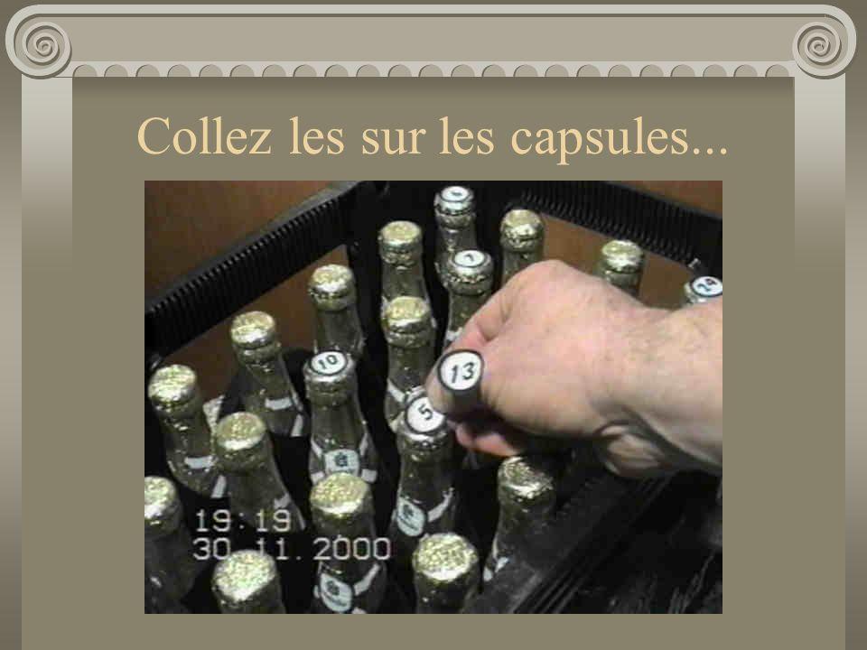 Collez les sur les capsules...