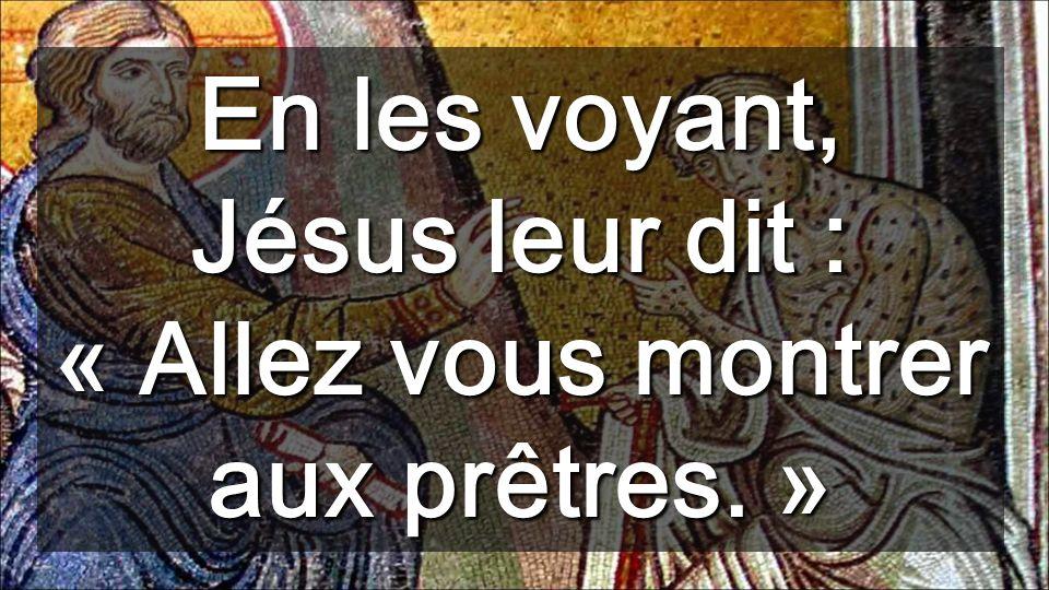 En les voyant, Jésus leur dit : « Allez vous montrer aux prêtres. »