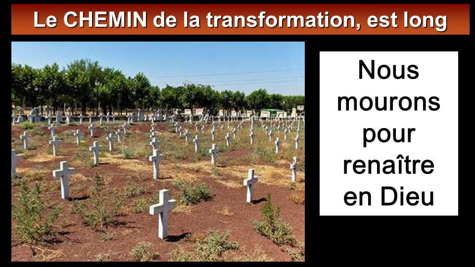 Nous mourons pour renaître en Dieu Le CHEMIN de la transformation, est long