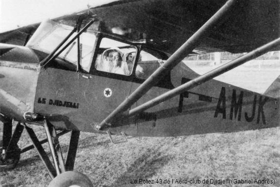 LAéro-club de Djidjelli en 1950, avec un Piper PA-11 des Travaux aériens du Midi (Eugène Fauché)