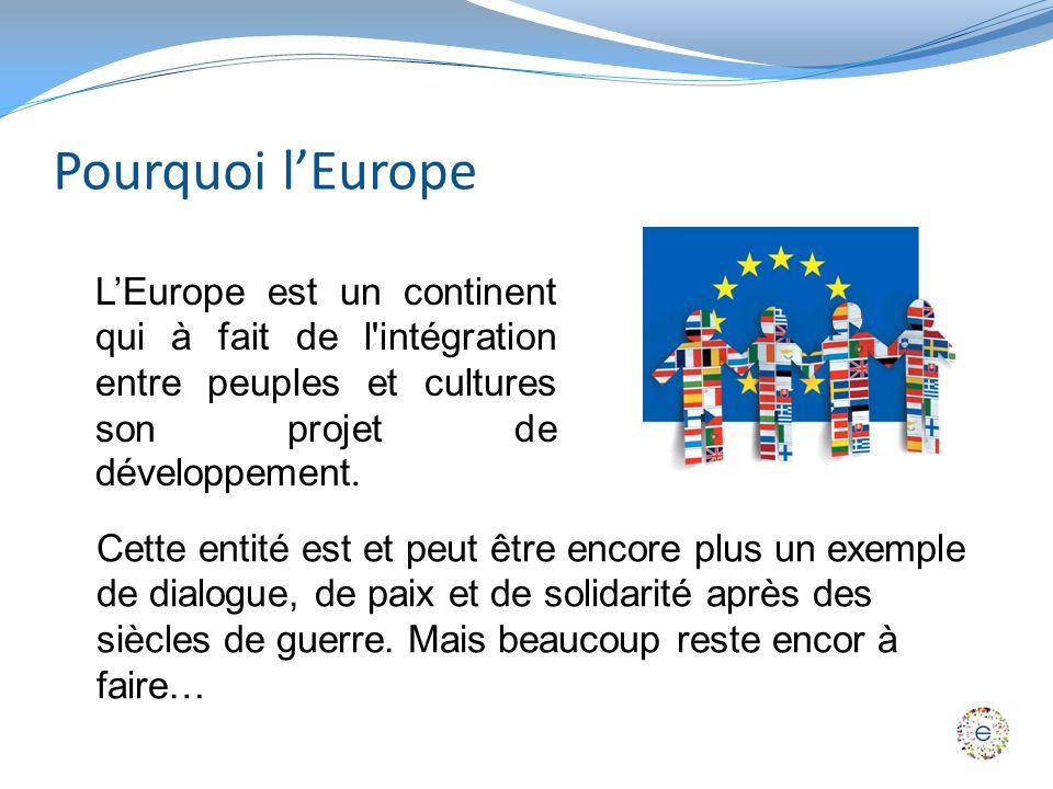 Pourquoi lEurope LEurope est un continent qui à fait de l intégration entre peuples et cultures son projet de développement.