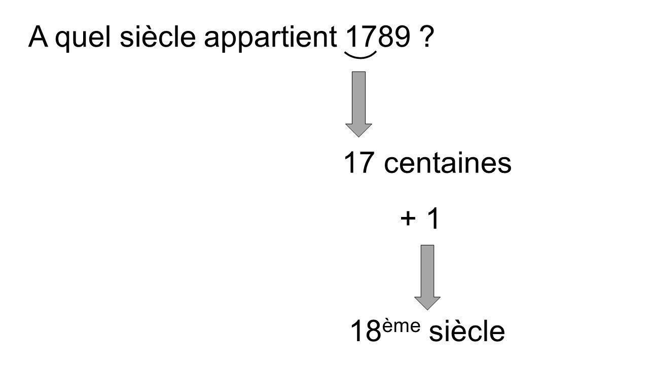 A quel siècle appartient 492 ? 4 centaines 5 ème siècle + 1