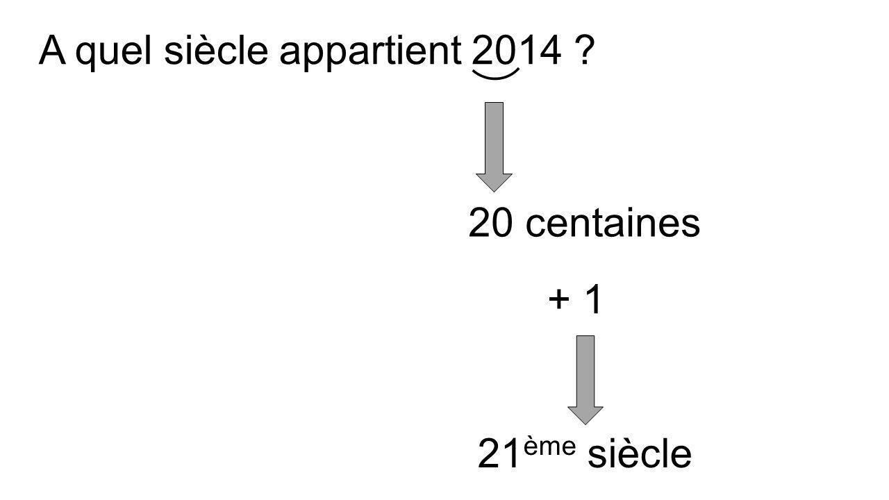 A quel siècle appartient 52 av. J.-C. ? 0 centaines 1 ème siècle av. J.-C. + 1