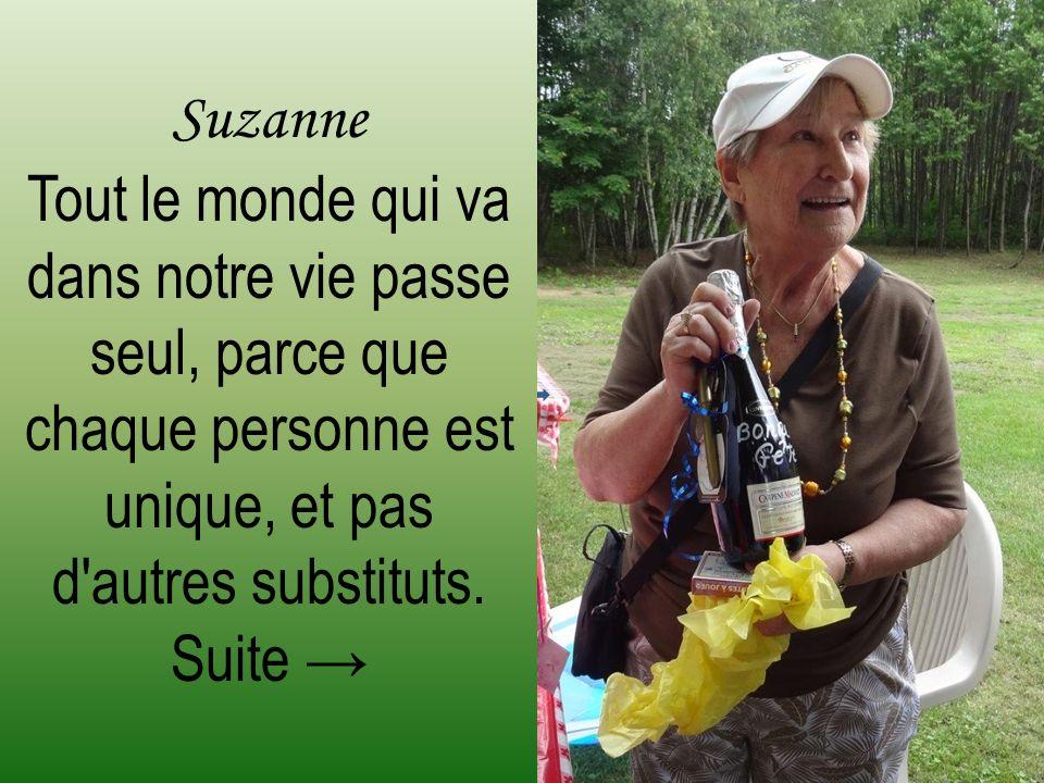 Cette fête, organisée pour les 80 ans de ma sœur Suzanne.