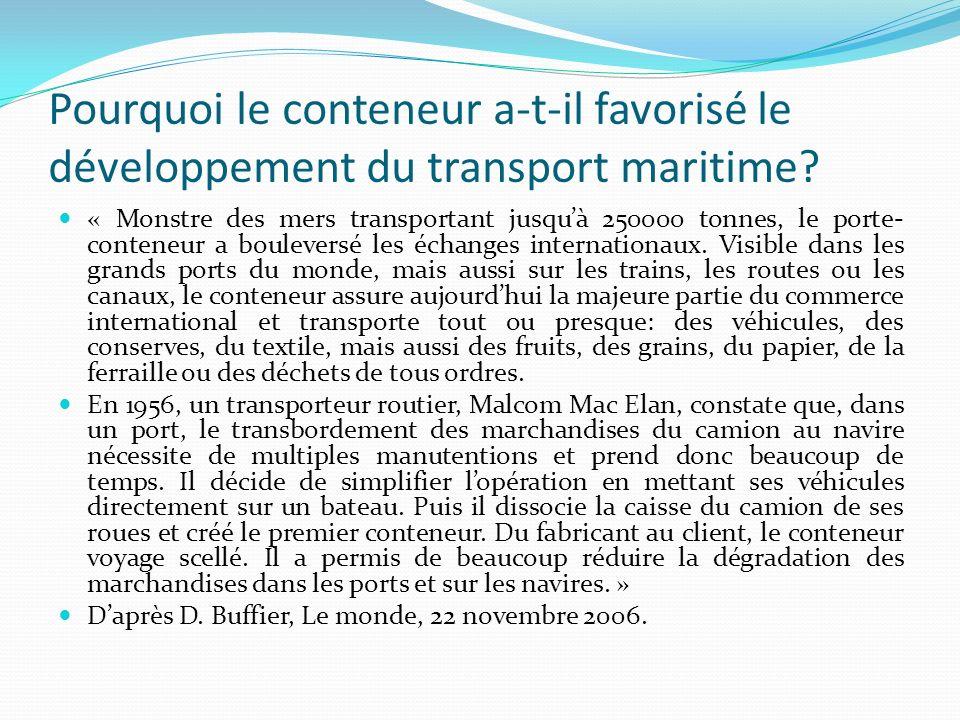 Par quel moyen de transport est assuré la majeure partie du transport de marchandises.