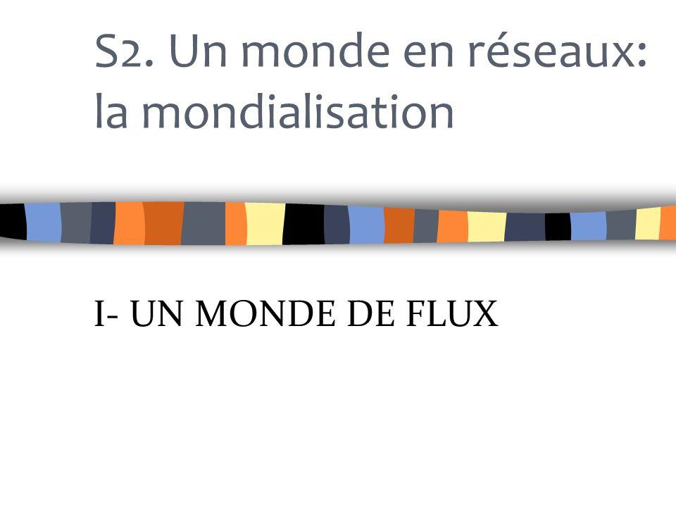S2. Un monde en réseaux: la mondialisation I- UN MONDE DE FLUX
