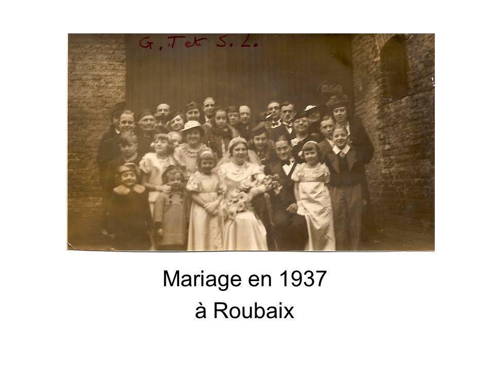 Mariage en 1937 à Roubaix