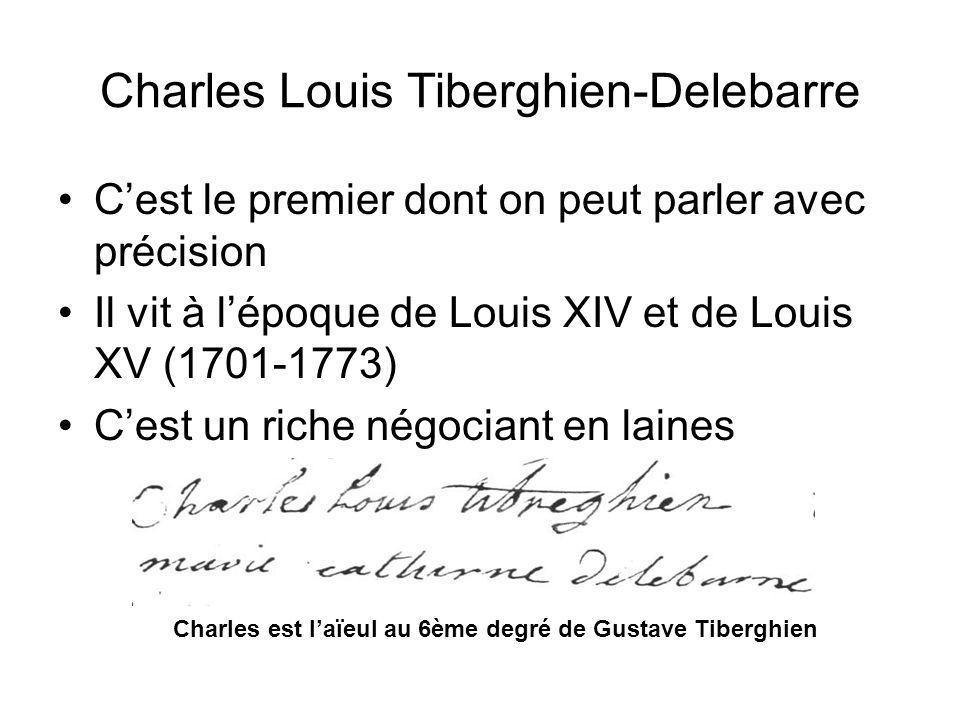 Cest le premier dont on peut parler avec précision Il vit à lépoque de Louis XIV et de Louis XV (1701-1773) Cest un riche négociant en laines Charles