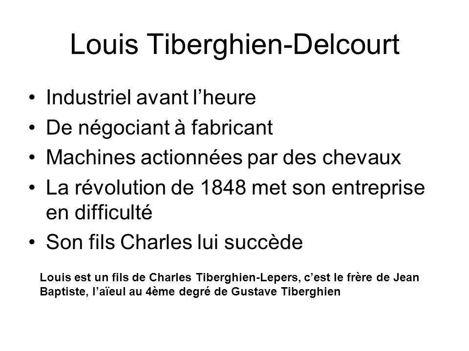 Louis Tiberghien-Delcourt Industriel avant lheure De négociant à fabricant Machines actionnées par des chevaux La révolution de 1848 met son entrepris