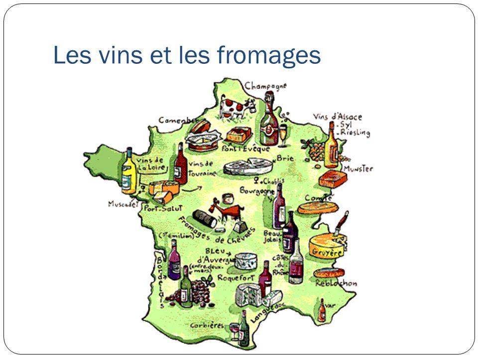 Les vins et les fromages