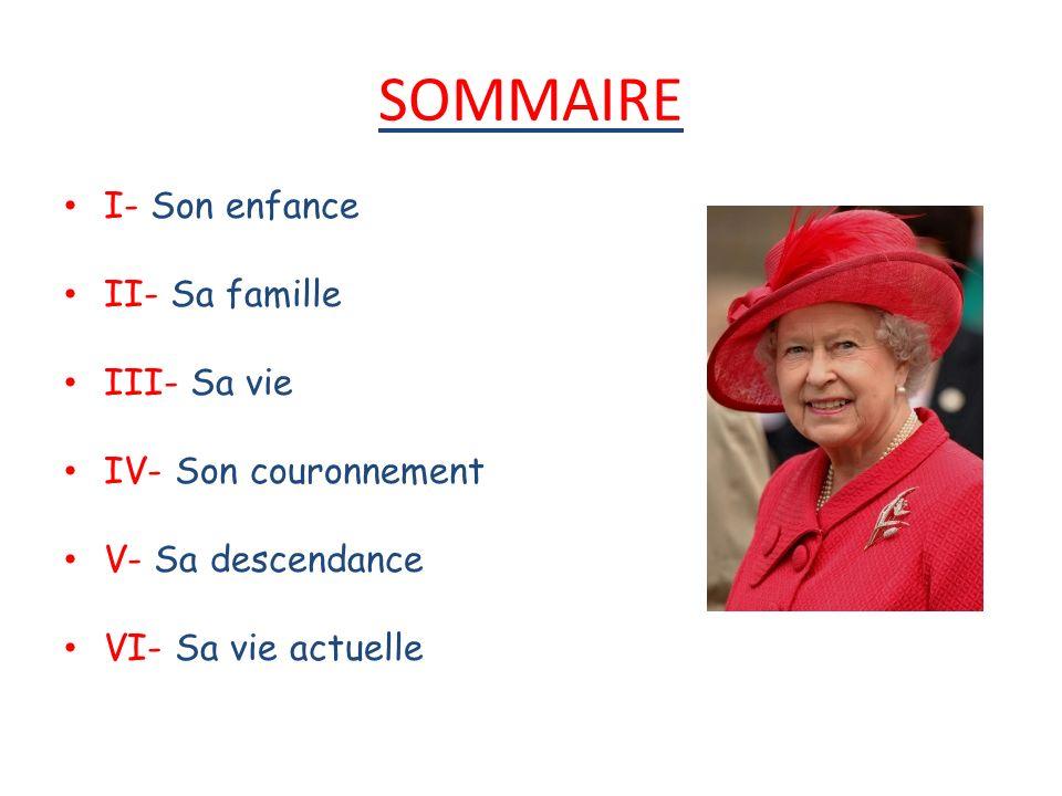 I.Son enfance Elizabeth II est née le 26 avril à Londres.