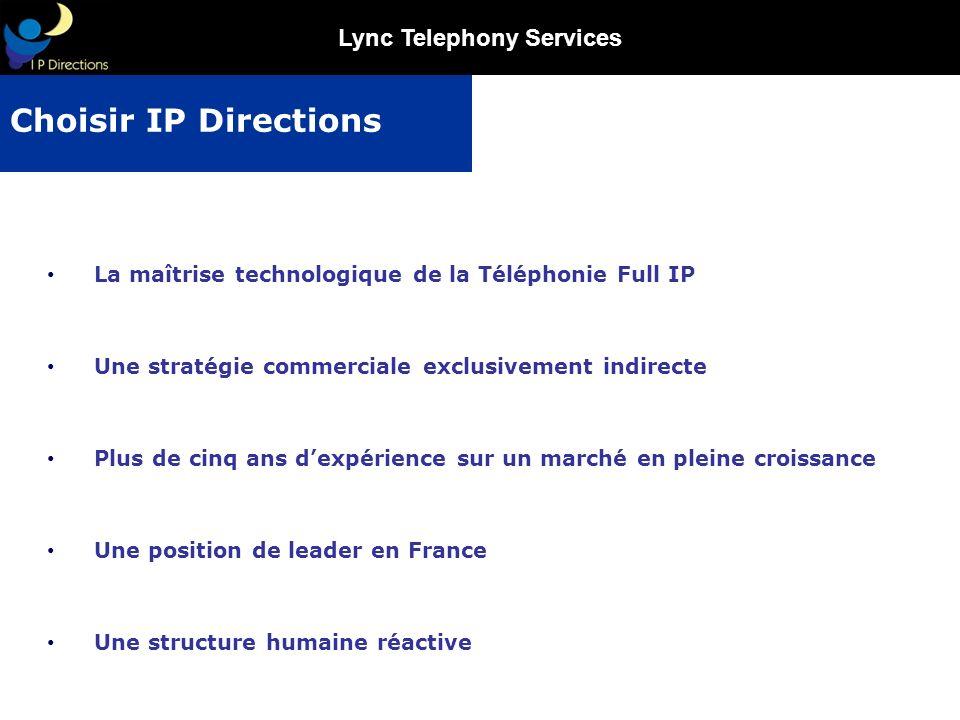 Lync Telephony Services La maîtrise technologique de la Téléphonie Full IP Une stratégie commerciale exclusivement indirecte Plus de cinq ans dexpérie