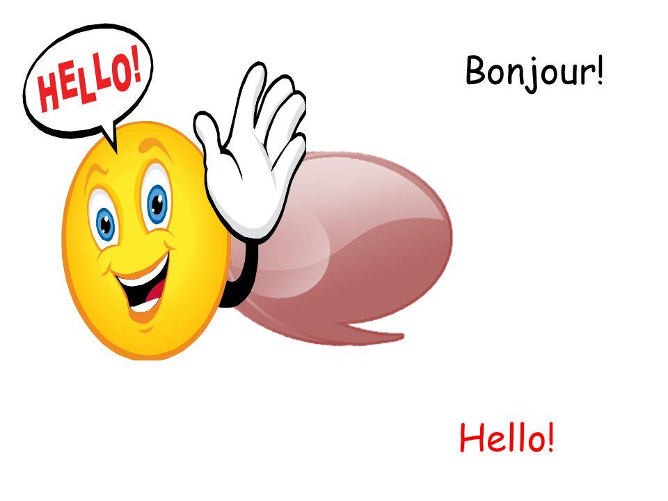 Bonjour! Hello!
