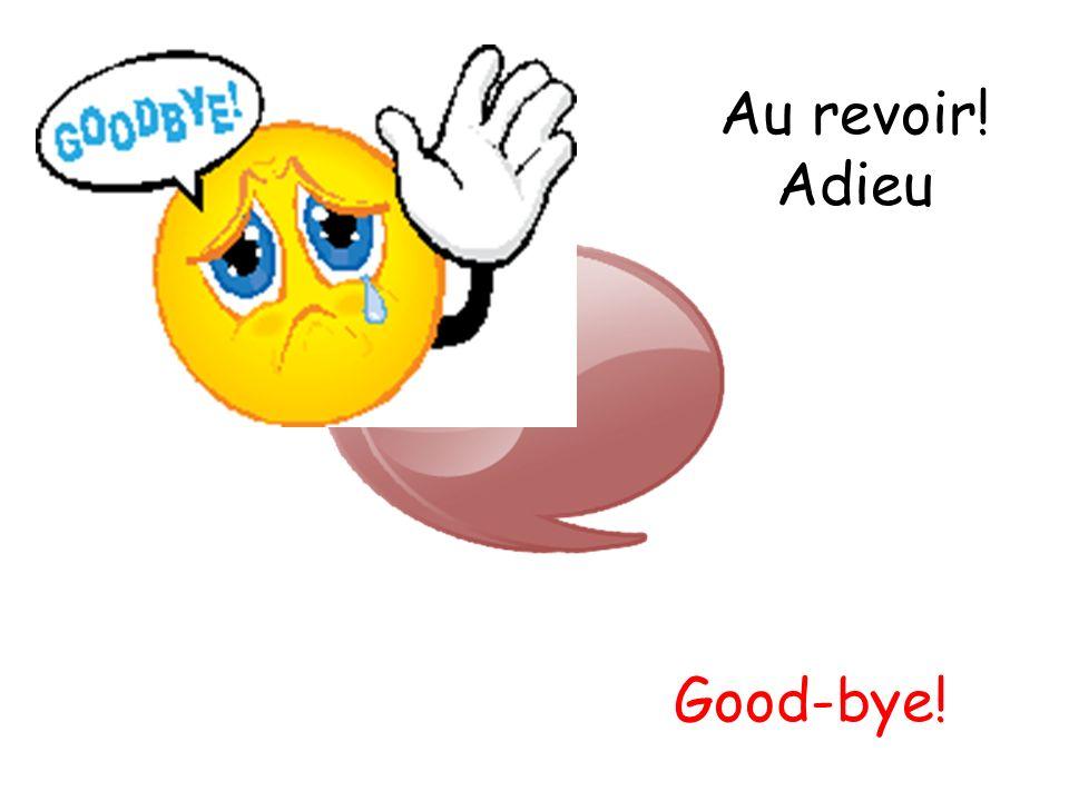 Au revoir! Adieu Good-bye!