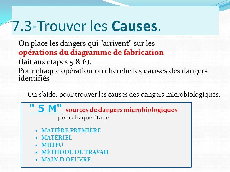 7.3-Trouver les Causes. On place les dangers qui