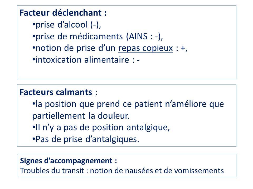 Antécédents Pas dantécédents chirurgicaux.