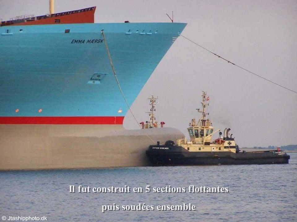 Il a été construit pour la haute mer. Il ne peut franchir ni le canal de Panama ni celui de Suez Il a été construit pour la haute mer. Il ne peut fran