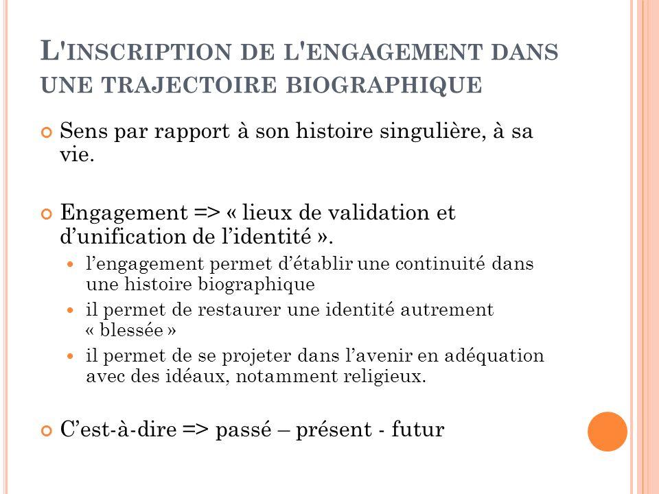 L ENGAGEMENT COMME TRAVAIL .