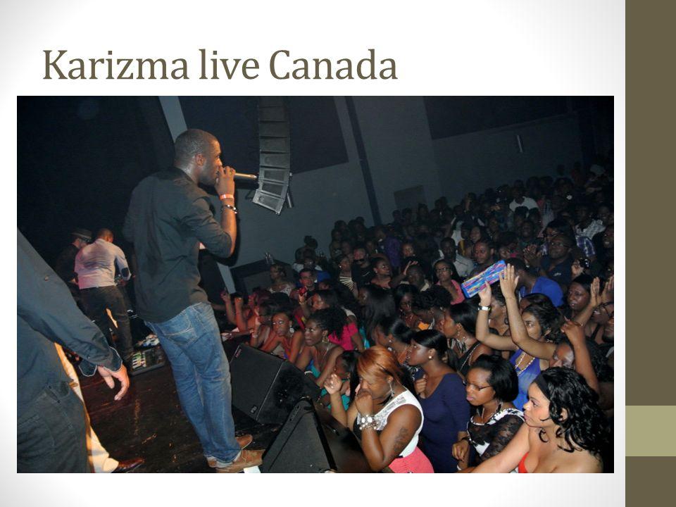 Karizma live Canada