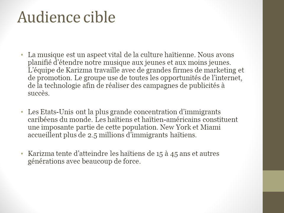 Audience cible La musique est un aspect vital de la culture haïtienne.