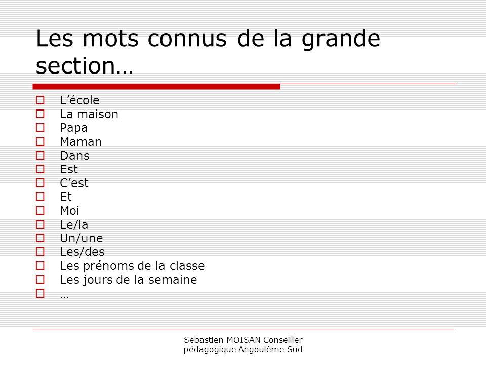 Sébastien MOISAN Conseiller pédagogique Angoulême Sud L Ali est dans le lilas.