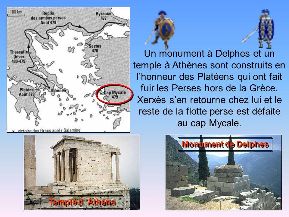 479 avant Jésus-Christ : la bataille de Platée Encore une fois, les Grecs sillustrent au combat en écrasant larmée de Xerxès. Le général perse Mardoni