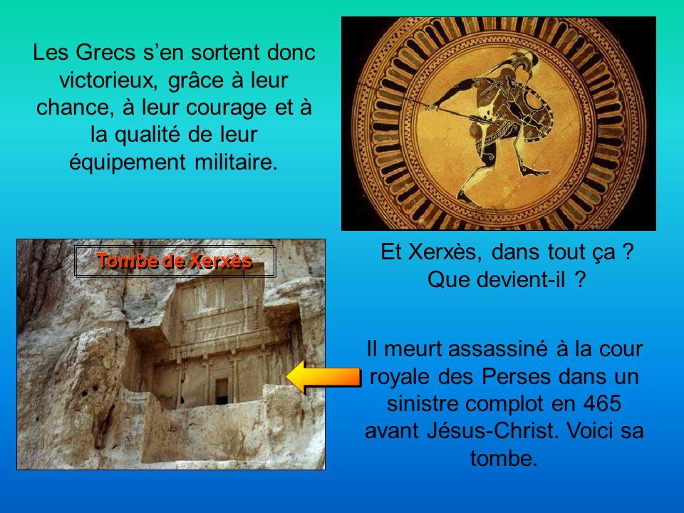 Un monument à Delphes et un temple à Athènes sont construits en lhonneur des Platéens qui ont fait fuir les Perses hors de la Grèce. Xerxès sen retour
