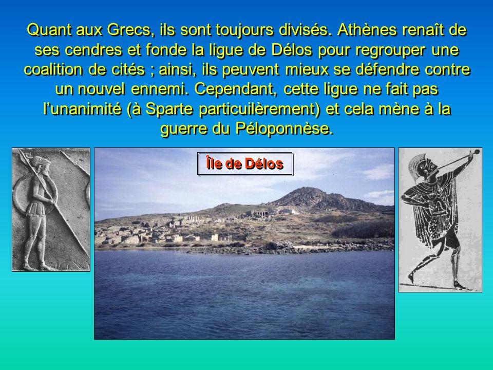 Les Grecs sen sortent donc victorieux, grâce à leur chance, à leur courage et à la qualité de leur équipement militaire. Et Xerxès, dans tout ça ? Que