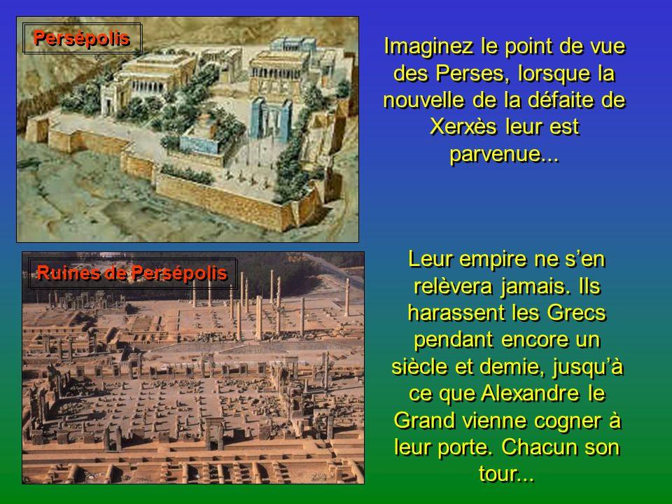 Quant aux Grecs, ils sont toujours divisés. Athènes renaît de ses cendres et fonde la ligue de Délos pour regrouper une coalition de cités ; ainsi, il