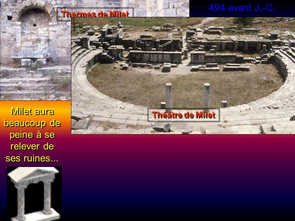 498 avant Jésus-Christ Les citoyens de Milet se révoltent contre lenvahisseur ! Le tyran Aristogoras est à la tête de la rébellion. Aidés par quelques