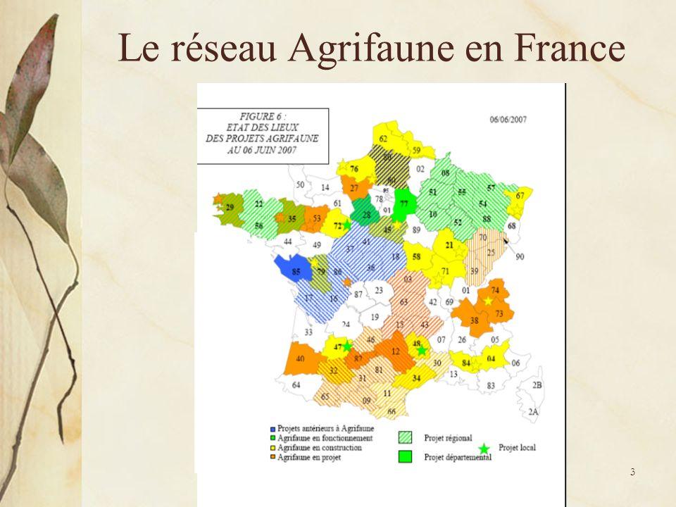 Réunion de présentation Yvelines - 11 mai 2009 - Agrifaune 3 Le réseau Agrifaune en France