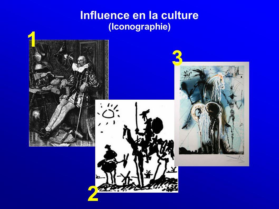 Influence en la culture (Musique et vidéo) Musique The Comical History of Don Quixote (1695), opéra-bouffe d Henry Purcell Don Quichotte de la Manche (1771), opéra de Antonio Salieri.