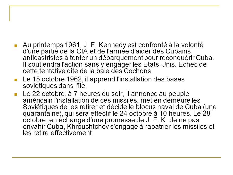Au printemps 1961, J. F. Kennedy est confronté à la volonté d'une partie de la CIA et de l'armée d'aider des Cubains anticastristes à tenter un débarq