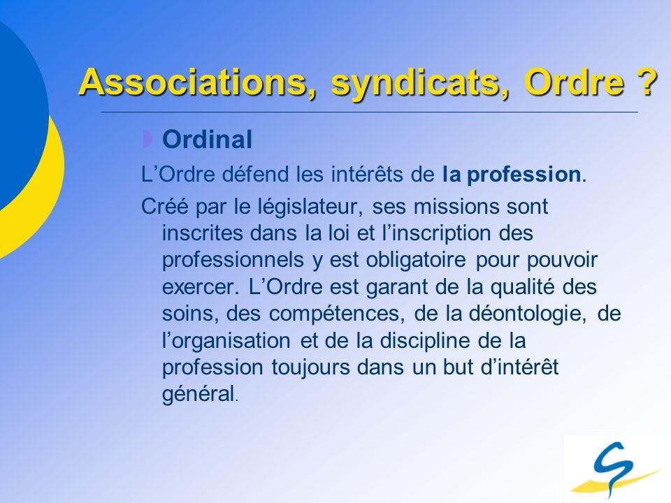 Ordinal LOrdre défend les intérêts de la profession. Créé par le législateur, ses missions sont inscrites dans la loi et linscription des professionne