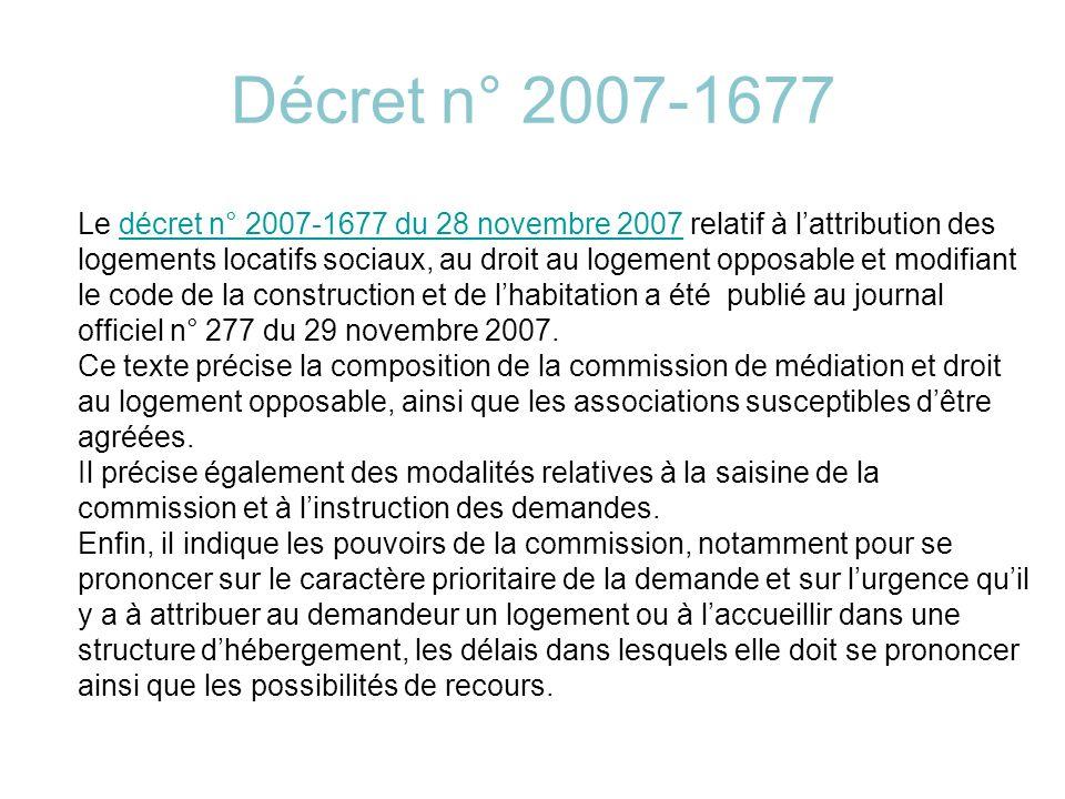 LE CONTEXTE SOCIO-ECONOMIQUE : La crise du logement Après que le droit à l habitat soit devenu un droit fondamental (loi Quilliot) et qu ait été consacré le droit au logement (loi Besson) a émergé la nécessité d instituer un droit au logement opposable.