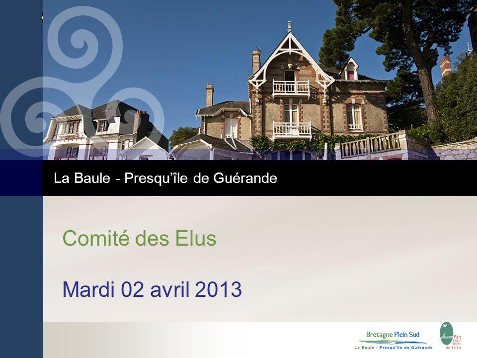 La Baule - Presquîle de Guérande Comité des Elus Mardi 02 avril 2013