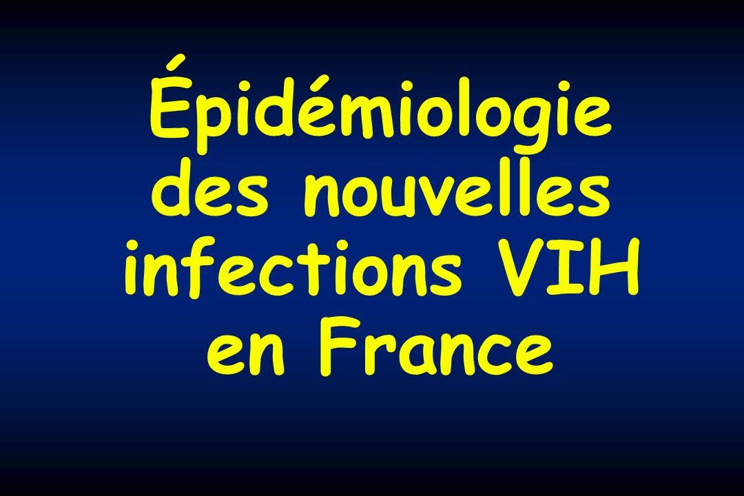 Épidémiologie des nouvelles infections VIH en France